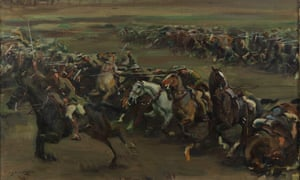 Charge of Flowerdew's Squadron painted by Alfred Munnings in 1918