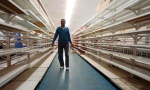 Empty shelves in Zimbabwe