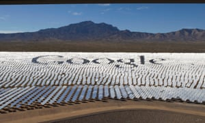 The Ivanpah solar electric generating system in the Mojave desert near the California-Nevada border.