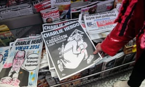 A commemorative edition of Charlie Hebdo in January 2016, one year after 12 members of staff were murdered in an attack on its offices.