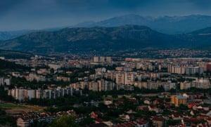 Podgorica at dusk.