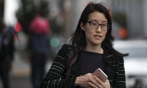 Former Kleiner partner Ellen Pao arrives at San Francisco superior court.