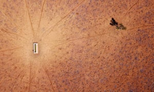 A drought-hit paddock from the air