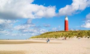 De Cocksdorp beach on Texel island, Netherlands.