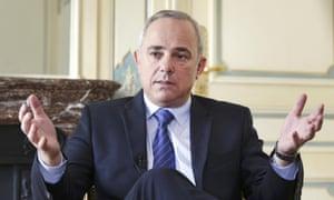 Israeli Intelligence Minister Yuval Steinitz