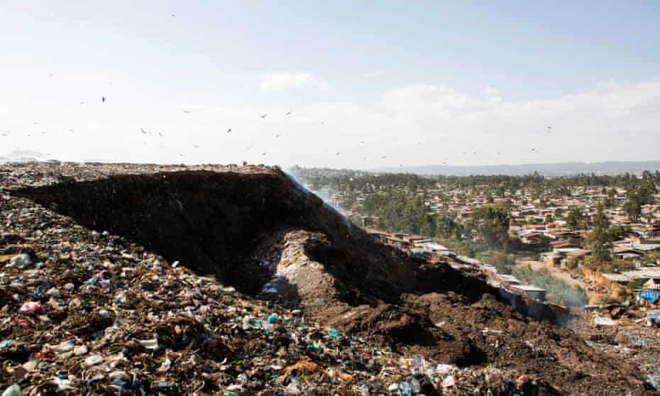 The main landfill of Addis Ababa on the outskirts of the city, after a landslide at the dump left at least 65 people dead. March 12, 2017