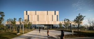 The exterior of the Ningbo New Library, China