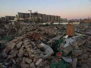 Scenes of destruction in Sanyingmen, a condemned migrant village in southern Beijing