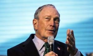 Michael Bloomberg speaks in San Francisco on Wednesday.
