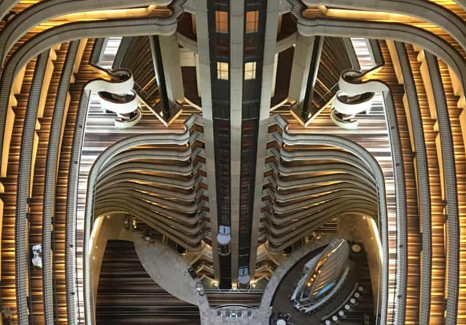 The vertiginous atrium of John Portman's Marriott Marquis hotel in Atlanta.