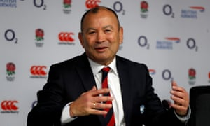 Eddie Jones talks to the press on Monday.