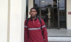 Justin Graves, 24, at the University of South Carolina campus.