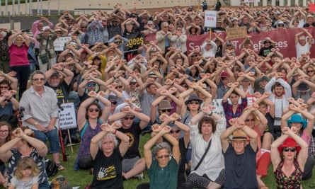 A protest in Canberra