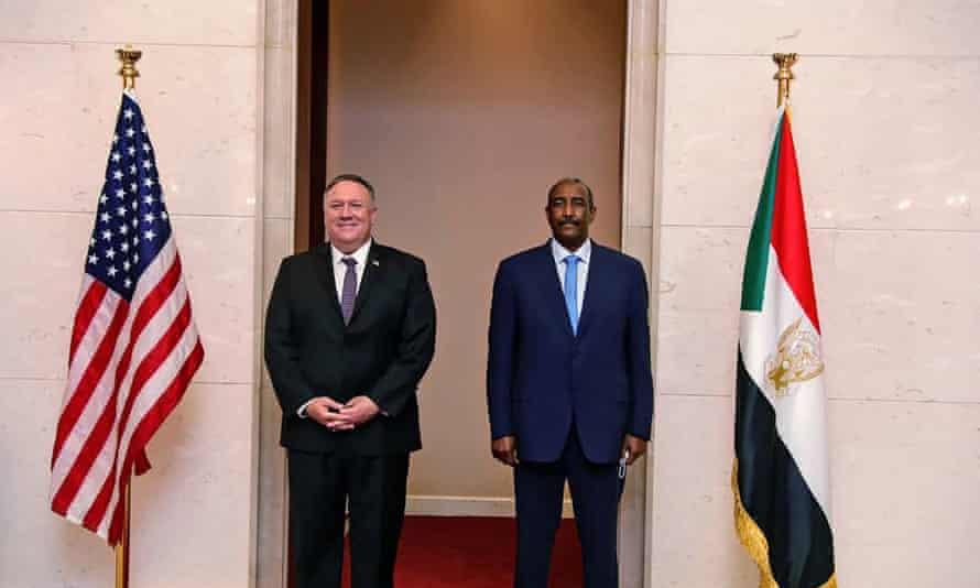 Mike Pompeo and Sudan's Gen Abdel Fattah al-Burhan