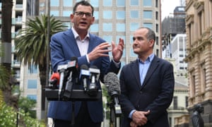 Victorian premier Daniel Andrews and deputy premier and education minister James Merlino