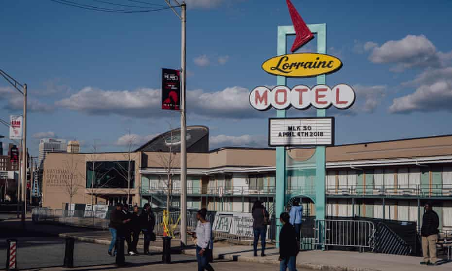 The exterior of the Lorraine motel in Memphis is preserved as it was in 1968. The rest of the building houses the National Civil Rights Museum.