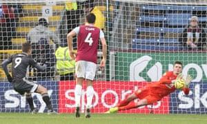 Nick Pope's fine display included saving Jamie Vardy's penalty.