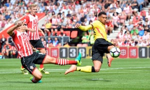 Etienne Capoue fires Watford into an early lead.