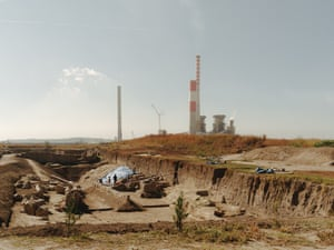 Kostolac B power plant, Serbia: Coal construction in Europe is not over yet. Serbia is building more coal plants – now funded by China's 'belt and road' initiative, which is also eyeing coal projects in countries from Bangladesh to Malawi. In the foreground is an archeological dig of the Roman city of Viminacium