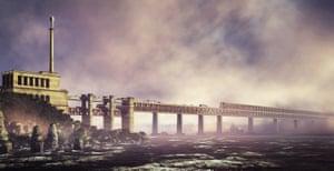 Kerch Strait Bridge, between Crimea and Russia. (A version has been built now)