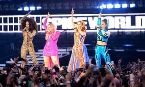 The Spice Girls at Croke Park in Dublin.