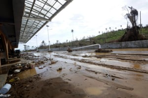 Storm damage at Douglas-Charles airport has hindered the relief effort