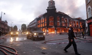 The aftermath of the riots in Tottenham, London, 2011.