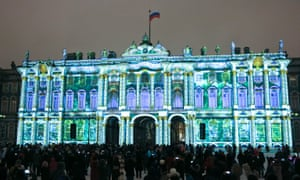 The Mystery of Light 3D-projection on St Petersburg's Hermitage Museum