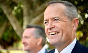 Leader of the opposition Bill Shorten (right) told the NSW Labor party conference on Sunday: 'Your penalty rates matter to me just as much as the prime minister's giveaway to the banks matters to him.'