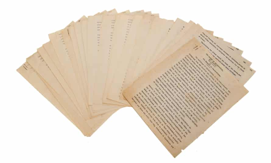 The Lovecraft typescript commissioned by Houdini.