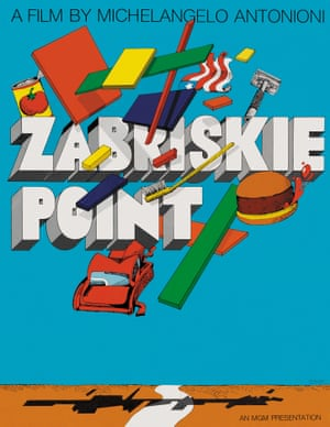 Film poster for Zabriskie Point by Milton Glaser