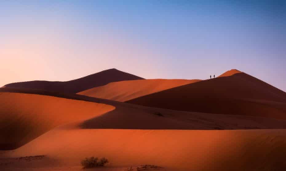 Namib Desert dunes.