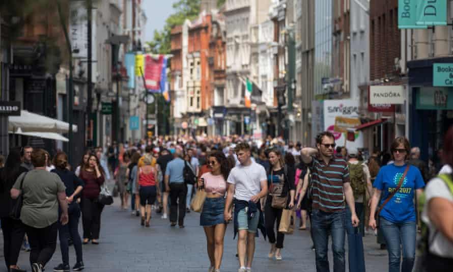 Shoppers on Grafton Street in Dublin