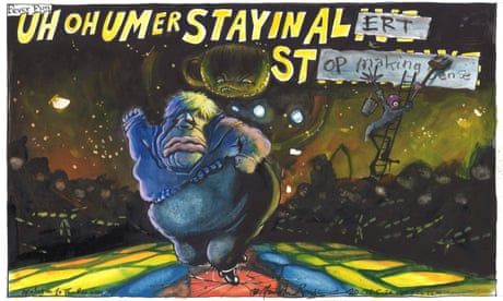 Martin Rowson on Boris Johnson's 'stay alert' slogan — cartoon
