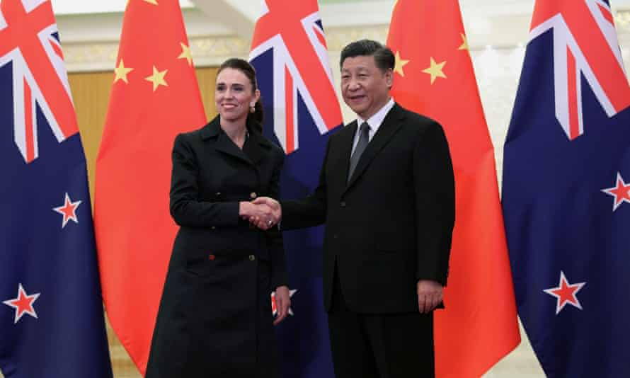 FILE PHOTO: New Zealand Prime Minister Jacinda Ardern meets Chinese President Xi Jinping in BeijingFILE PHOTO: Chinese President Xi Jinping and New Zealand Prime Minister Jacinda Ardern shake hands before the meeting at the Great Hall of the People in Beijing, China April 1, 2019. Kenzaburo Fukuhara/KYODONEWS/Pool via REUTERS/File Photo