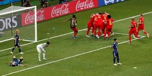 シャドリの土壇場ゴールでベルギーは3−2で大逆転に成功。