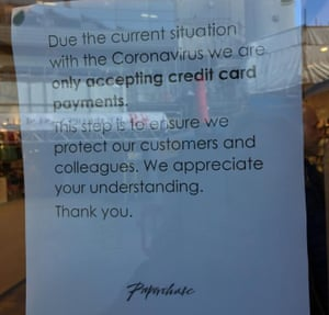 Notice in Paperchase window