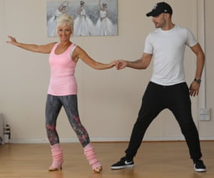 Debbie McGee training with Strictly Come Dancing partner Giovanni Pernice last year.