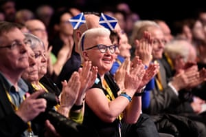 SNP supporters at the party's spring conference in Aberdeen, Scotland