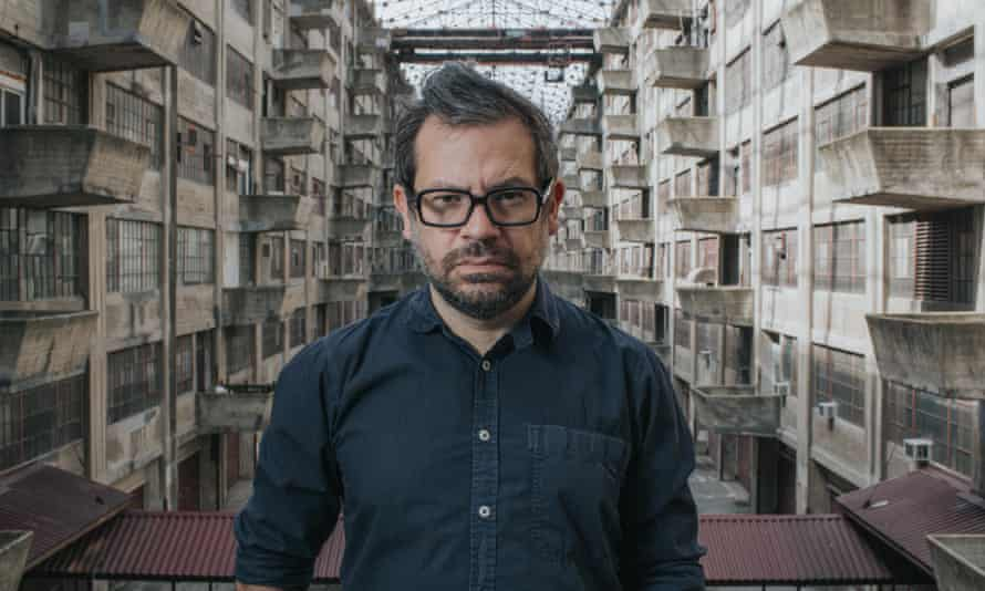 Artist Pedro Reyes at the Brooklyn Army Terminal, site of Doomocracy.