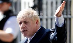 Boris Johnson speaks outside Downing Street