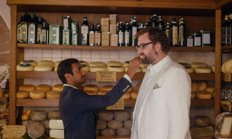 'Token white friend' … Dev and Arnold eating Italian cheese in Master of None.