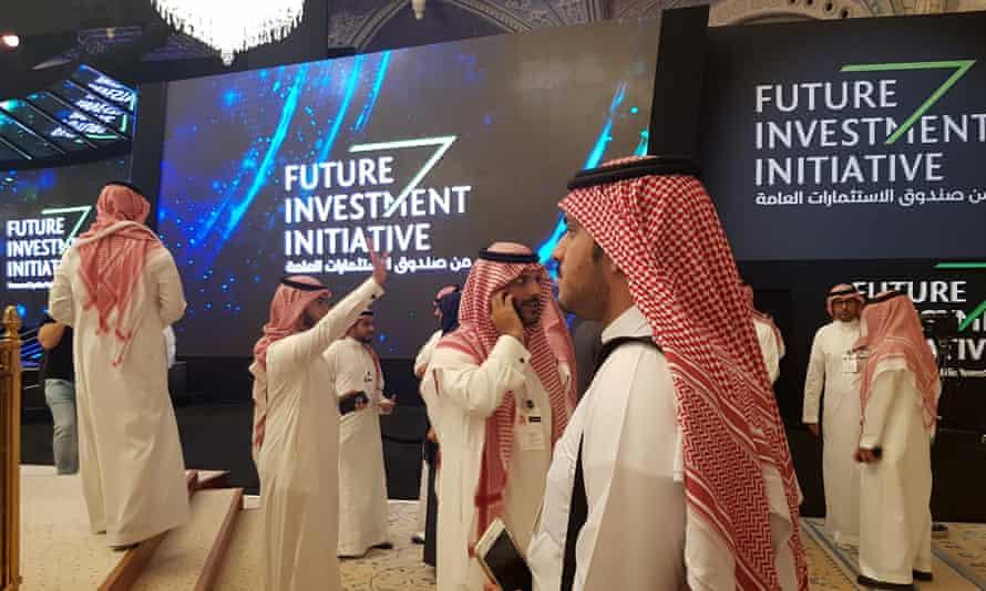The Future Investment Initiative conference at the Ritz Carlton hotel in Riyadh, Saudi Arabia, last year.
