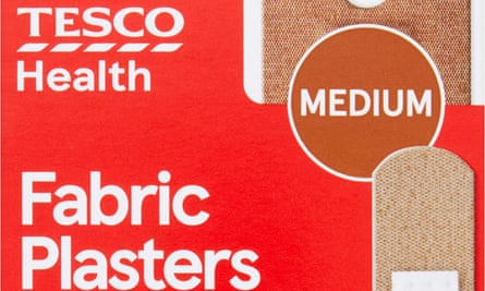 A package of the new plasters in the medium shade.