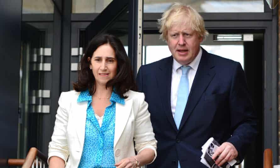 Boris Johnson and Marina Wheeler in 2015.
