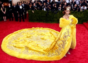 """The much-memed """"omelette dress"""" worn by Rihanna in 2015 was designed by Guo Pei, and somewhat stole the show at the China: Through the Looking Glass gala."""