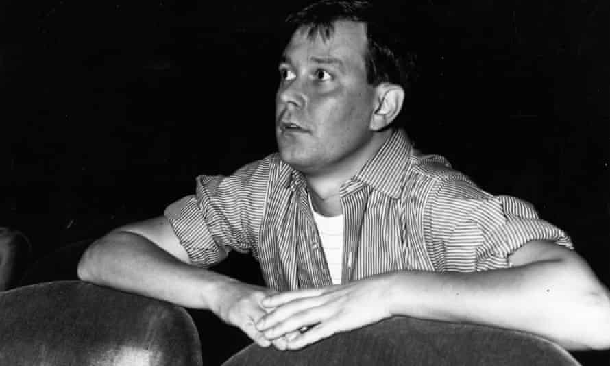 Joe Orton watching a rehearsal of his play Entertaining Mr Sloane at Wyndham's theatre, London.