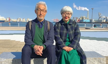 'Bon' (Tsuyoshi Seki, left) and 'Pon' (Tomi Seki, right), pose in coordinated outfits
