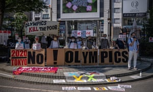 Anti-Olympic protesters in Tokyo.