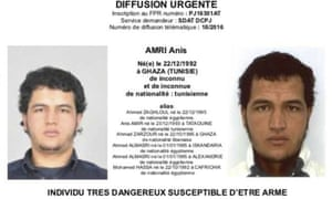The photo which was sent to European police authorities and obtained by AP of Anis Amri, who is wanted by German police for alleged involvement in the Berlin Christmas market attack.